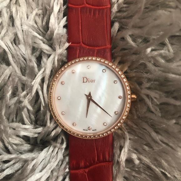 Dior Accessories Red Strap Womens Watch Poshmark